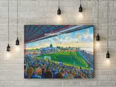 edgeley park  canvas a3 size
